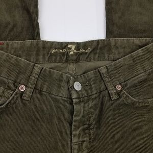 Seven For All Mankind corduroy green flare pants
